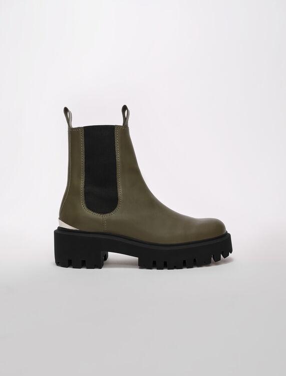Bottines chelsea à plateforme - Chaussures_Bottines-Bottes - MAJE