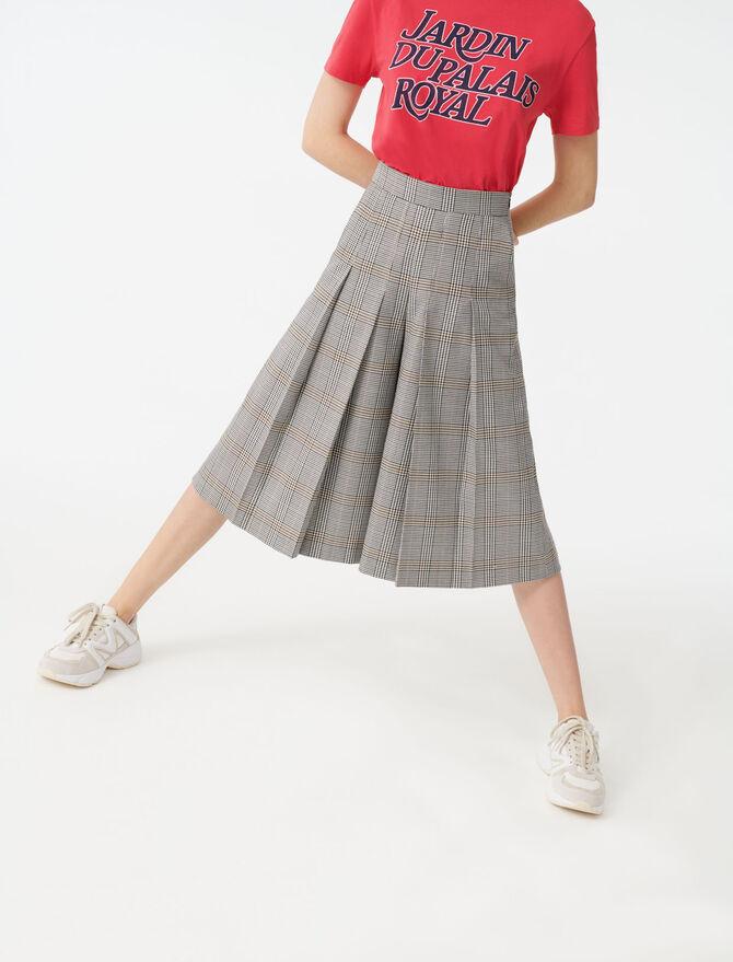Pantalon à carreaux façon bermuda - Pap_Pantalons-Jeans - MAJE