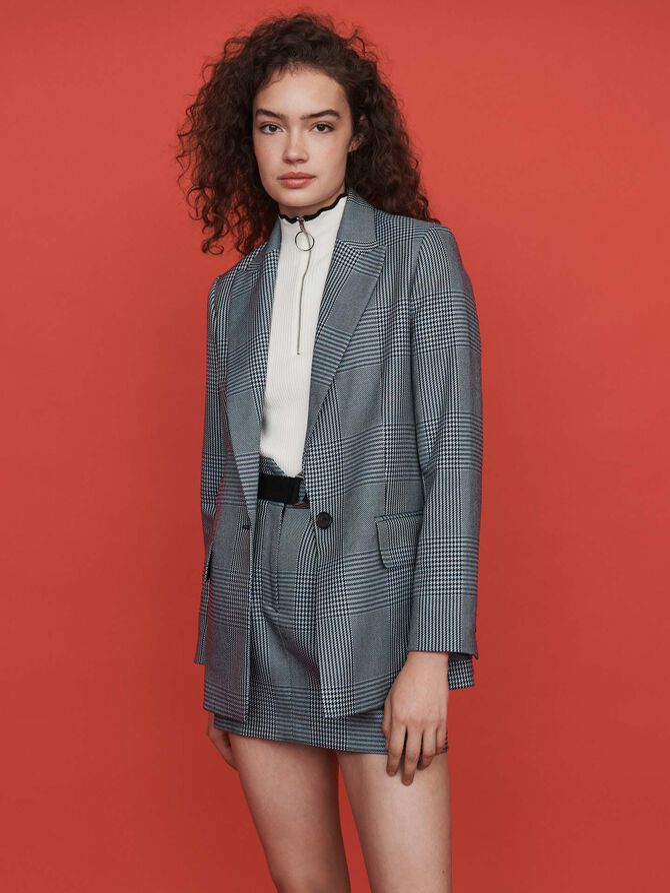 Straight-cut plaid jacket - Blazers - MAJE