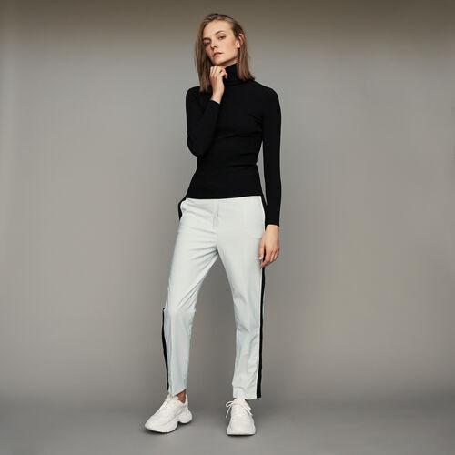 Turtleneck skinny ribbed sweater : Urban sport color Black 210