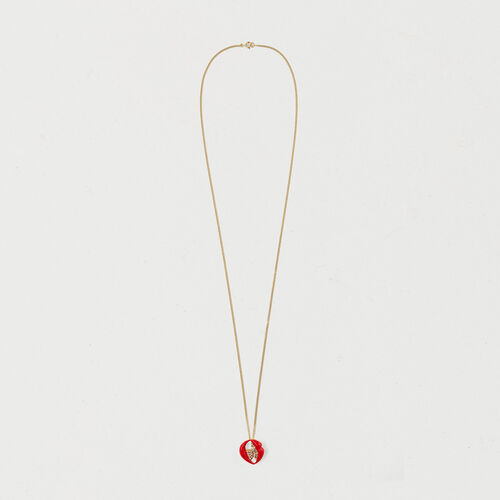 Necklace with mouth medallion : Gadgets color GOLD