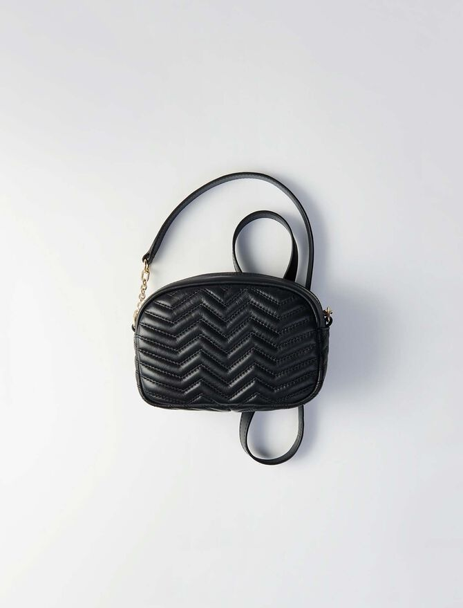 Quilted velvet shoulder bag - Sami bag - MAJE