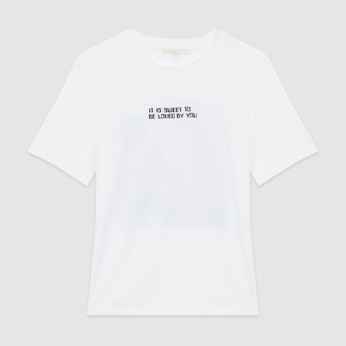 Tee-shirtwith slogan and print : T-Shirts color White