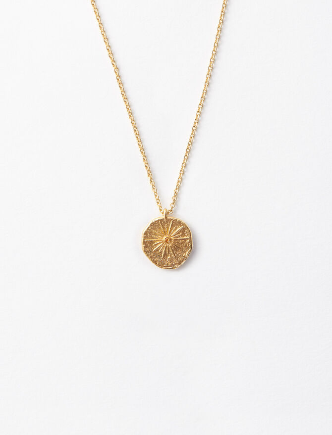 """Mon Soleil"" gold-plated necklace -  - MAJE"