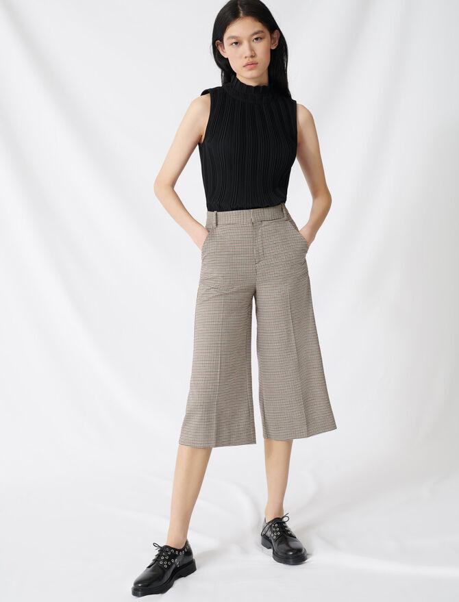 Long shorts in a Prince of Wales print - SoldesFR_Jupes_shorts - MAJE