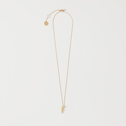 Necklace with initial pendant : Shop by color GOLD
