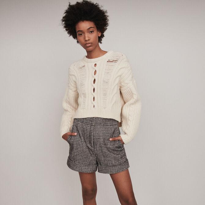 Plaid turn-up shorts - staff private sale 20 - MAJE