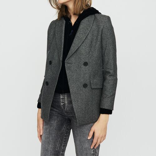 Blazer in wool blend : null color Grey