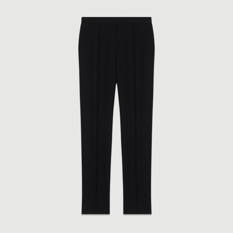 Straight suit pants : Trousers color Black 210
