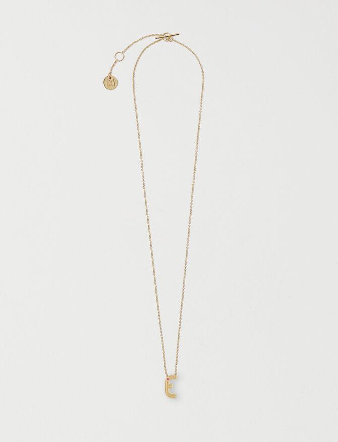 Necklace with initial pendant - Présoldes-Accessoires-BE - MAJE