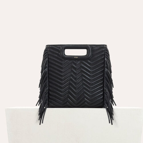 Quilted leather M bag : Autumn Leather color Black 210