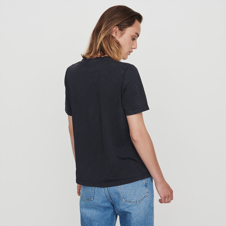 Strass tee shirt : T-Shirts color Anthracite