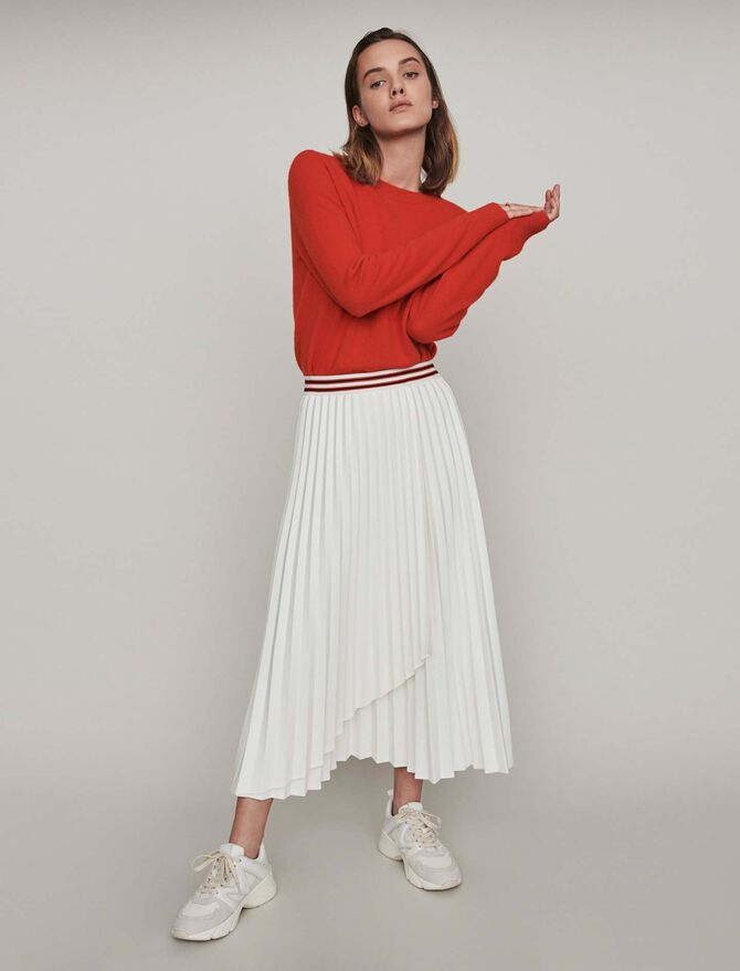 Pleated skirt with contrasting stripes - -30% - MAJE