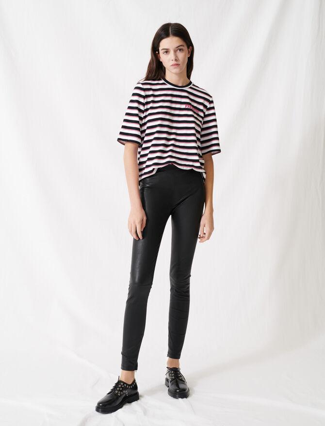 Legging cuir stretch taille haute - Pap_Pantalons-Jeans - MAJE