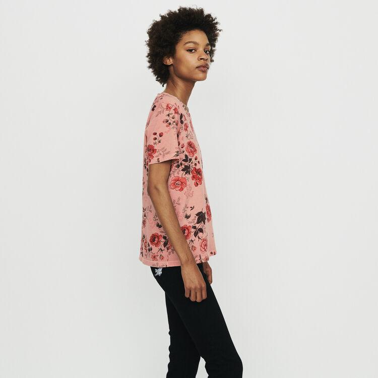 Floral print T-shirt : T-Shirts color Printed