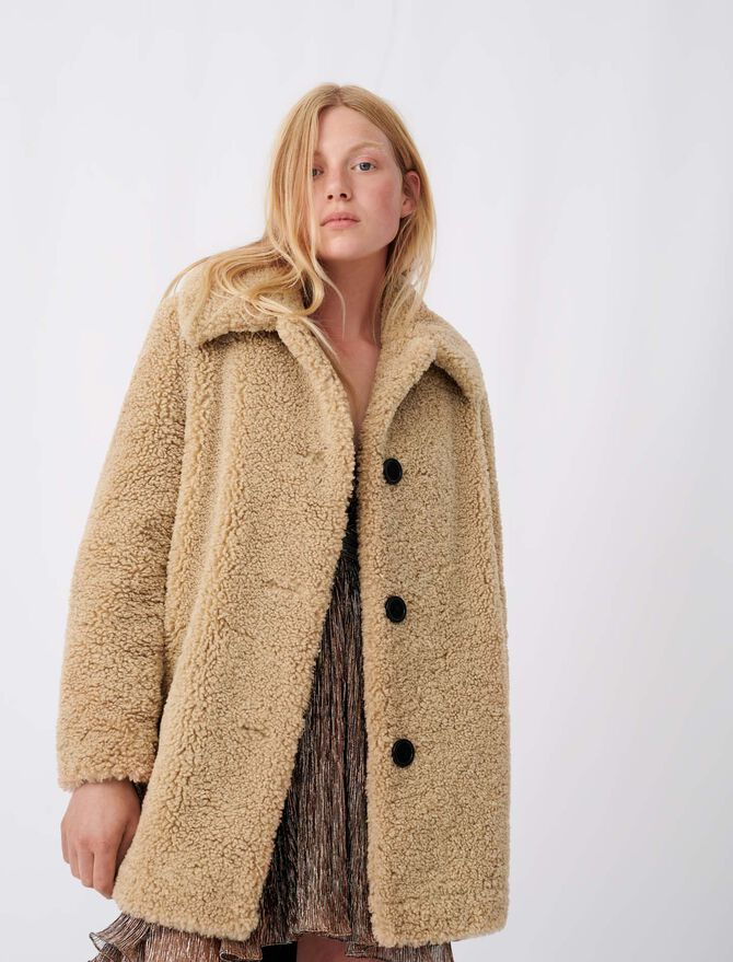 Fur-effect coat - All - MAJE