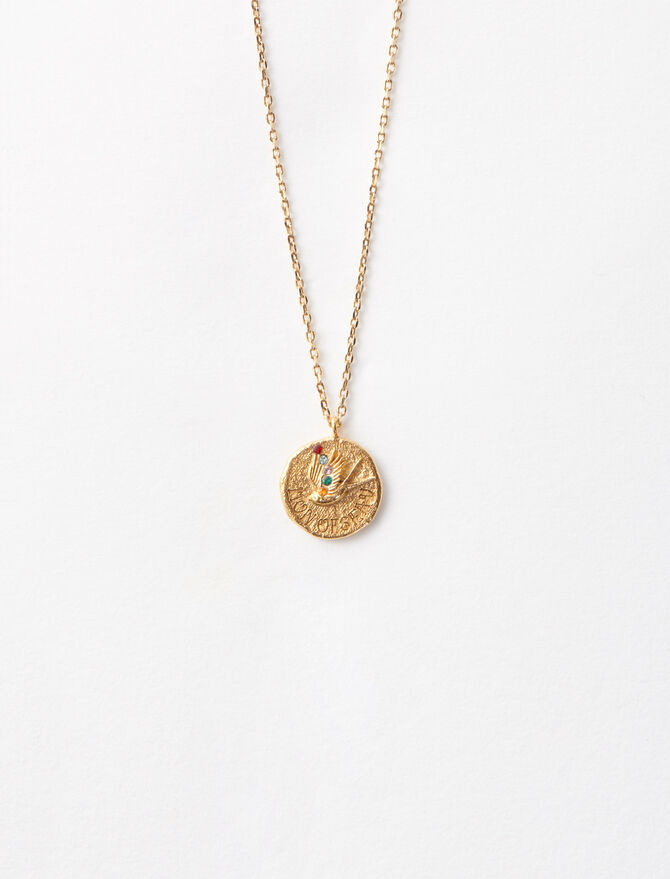 """Mon oiseau"" gold-plated necklace -  - MAJE"
