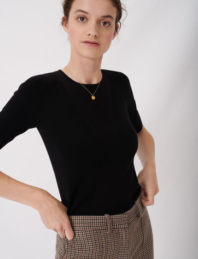 Pull fin à manches courtes - Pullovers & Cardigans - MAJE