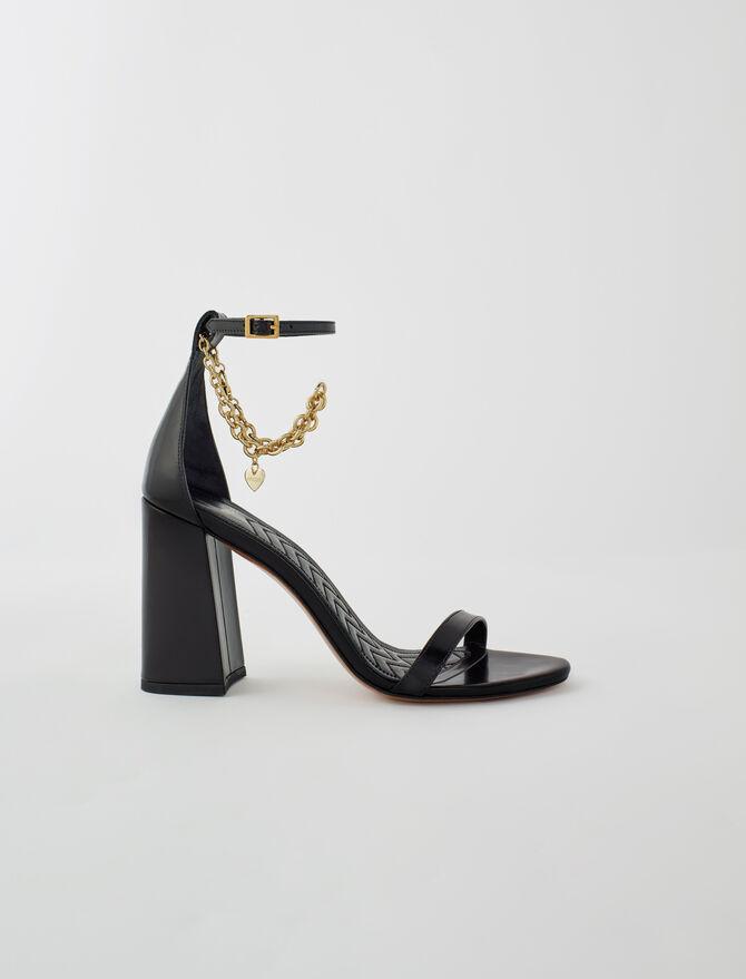 Sandales haut talon et chaîne dorée - Chaussures_Escarpins - MAJE
