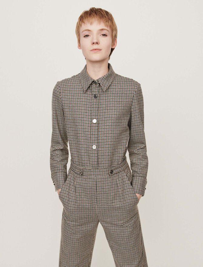 Combinaison-pantalon à carreaux -  - MAJE