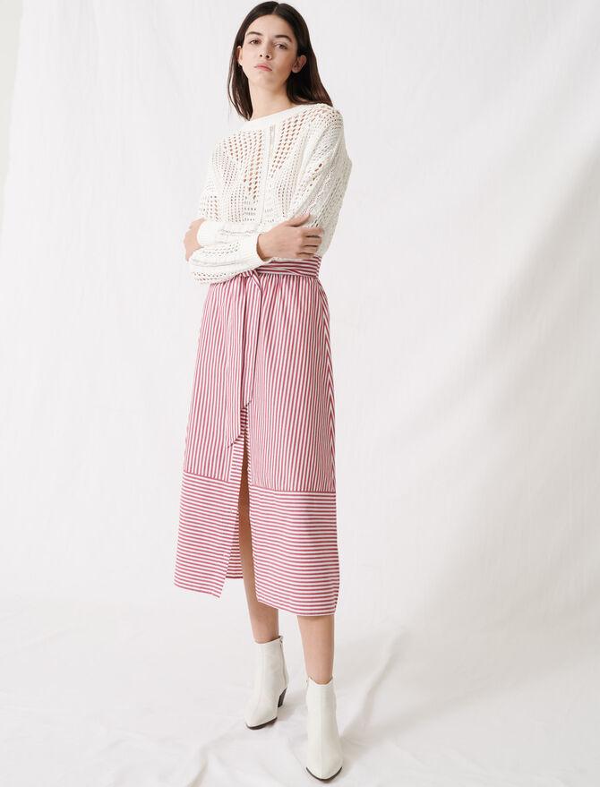 Jupe longue rayée à nouer - Pap_Jupes-Shorts - MAJE