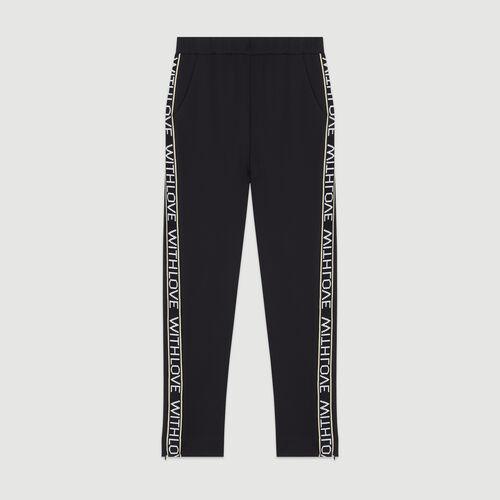 Jogging pants with elastic waist : Trousers color Black 210