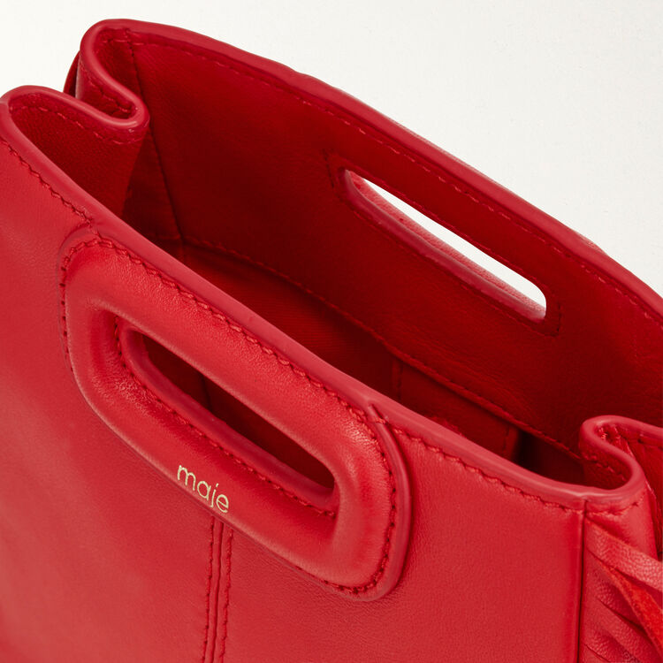 Mini leather M bag with chain : M Mini color Red