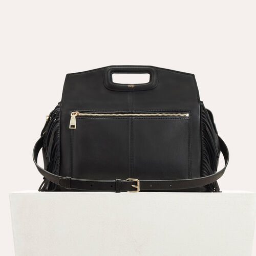 MWALK bag with leather fringes : Back in town color Black 210