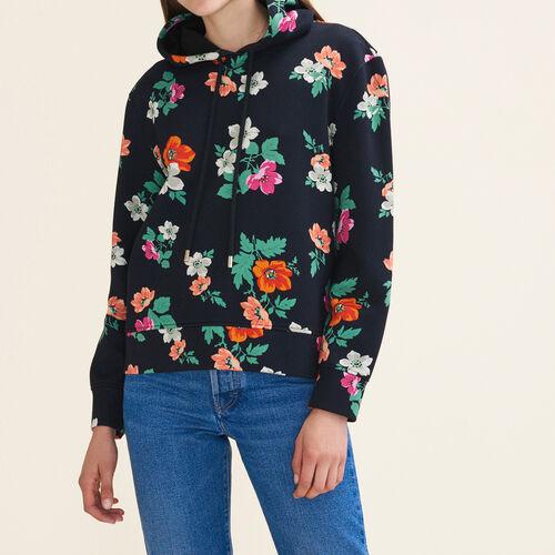 Printed hooded sweatshirt : Sweaters & Cardigans color PRINTED