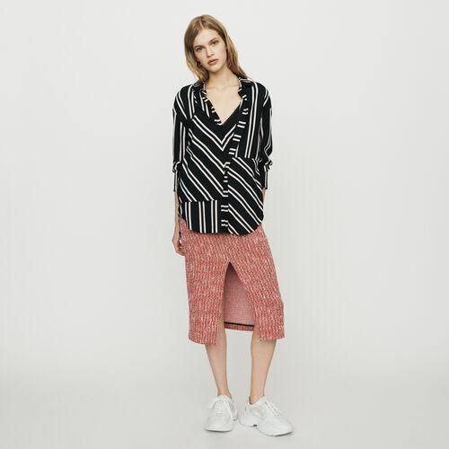 Shirt with trompe-l'œil stripes : Tops & Shirts color Stripe