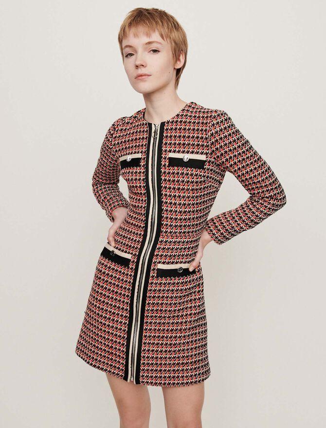 Robe contrastée façon tweed - Pap_Robes - MAJE