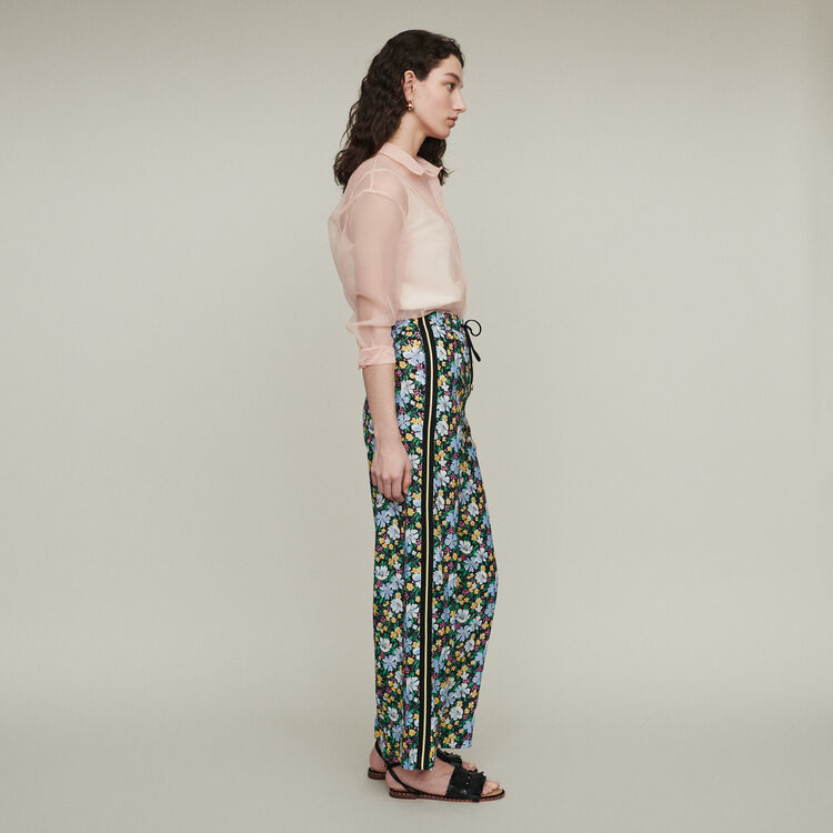 Sweatpants with floral print : Trousers & Jeans color Print