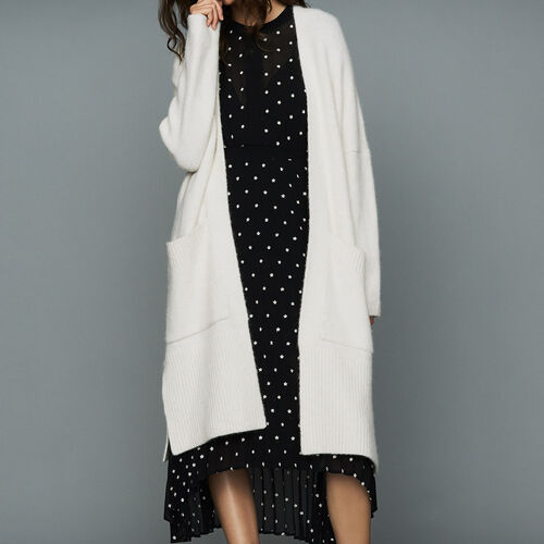 Long oversized cardigan : Knitwear color ECRU