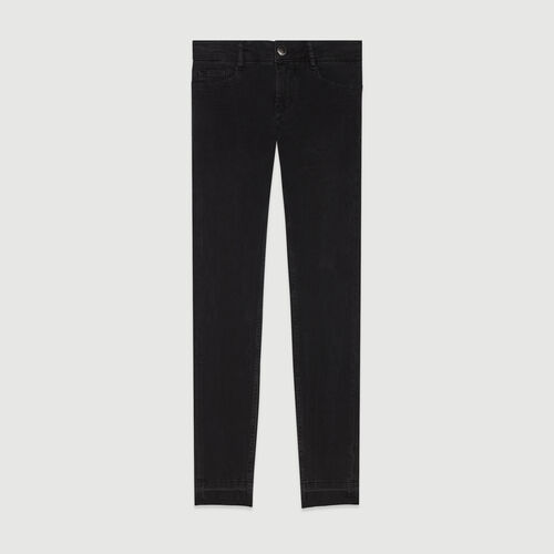 Skinny jeans in stretch cotton : Trousers & Jeans color Anthracite