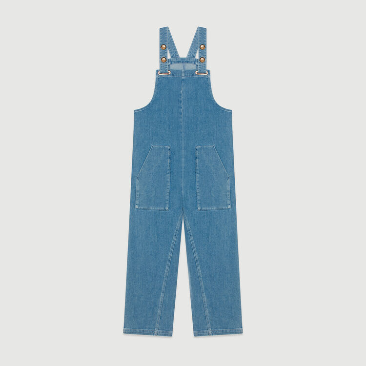 Denim jumpsuit : Jeans color Denim