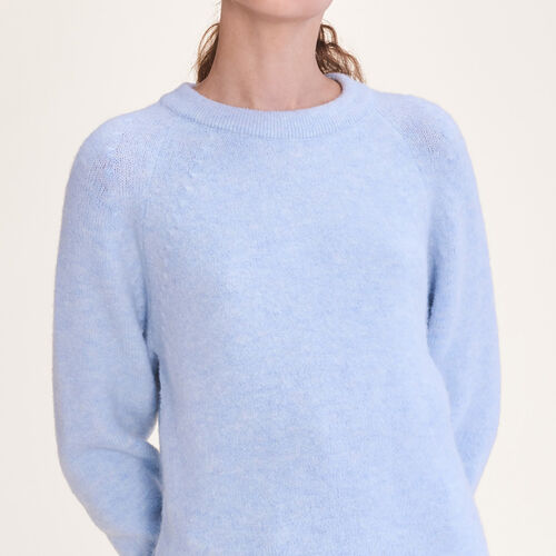 Loose fluffy jumper : Sweaters & Cardigans color Blue Sky