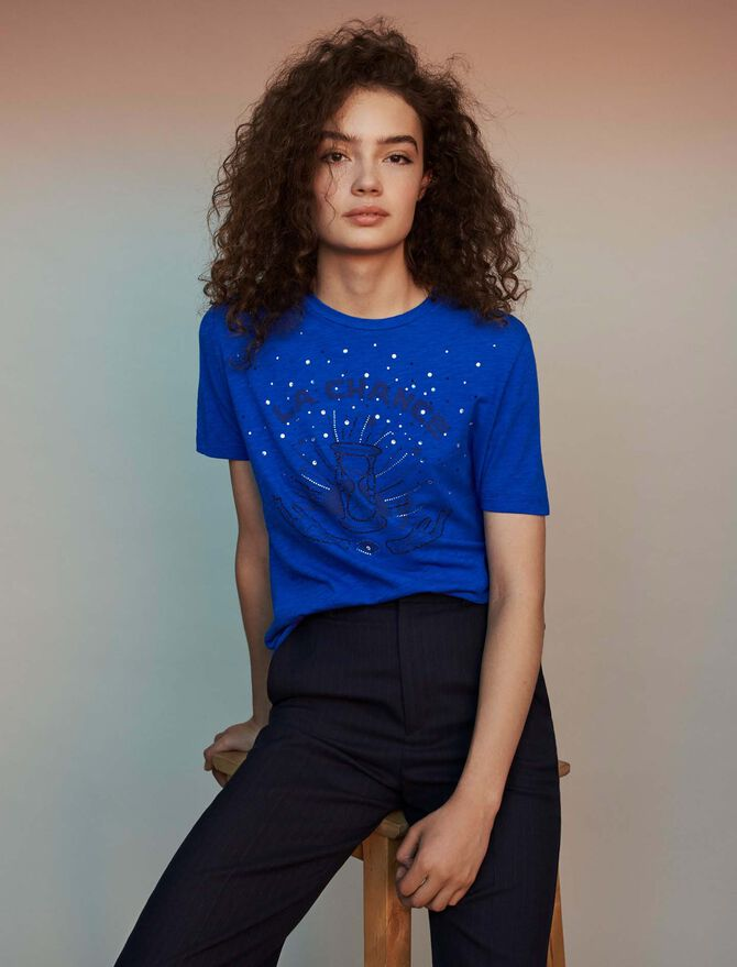 Embroidered tee shirt - null - MAJE