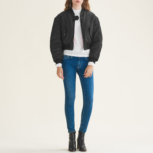 Stretch cotton skinny jeans : Jeans color Blue