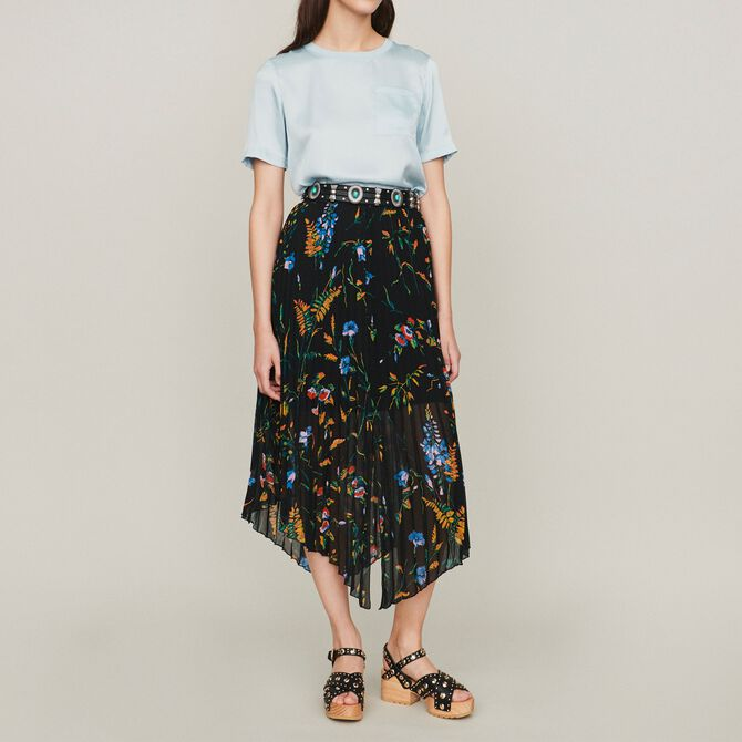 Printed pleated dress - See all - MAJE
