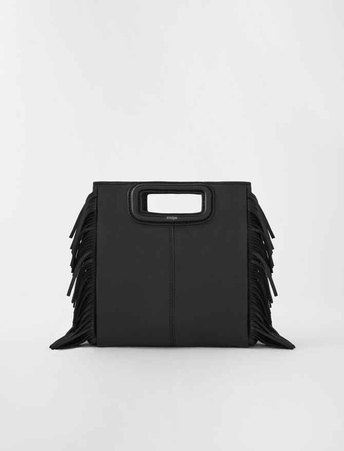 Leather M bag -  - MAJE