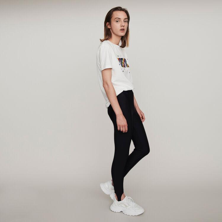 Stretch stirrup pants : Winter collection color Black