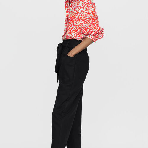 Wide high-waist pants : New Collection color Black 210
