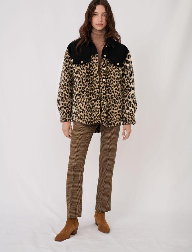 Bimaterial animal motif jacket - Coats & Jackets - MAJE
