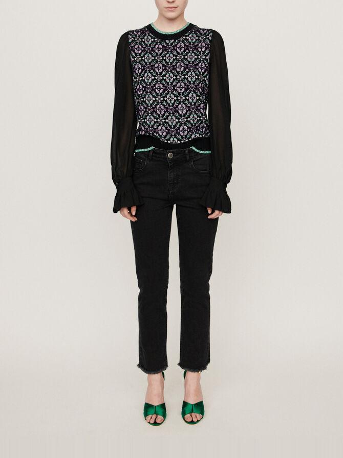 Basic straight-leg jeans - Trouser & Jean - MAJE
