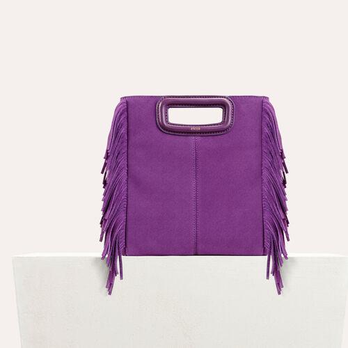 Suede M bag : M bags color Purple