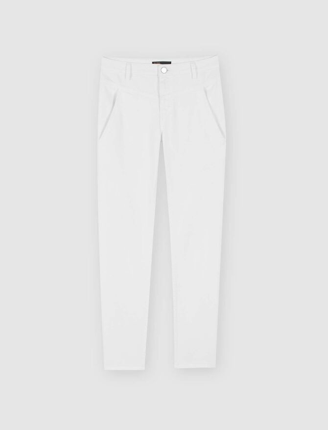 Straight-cut ripped jeans with pockets - Presoldes-50_BE - MAJE