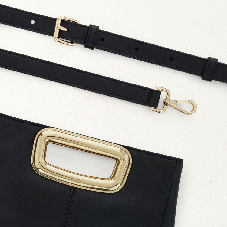 M Mini Skin bag in leather : M Skin color Black 210