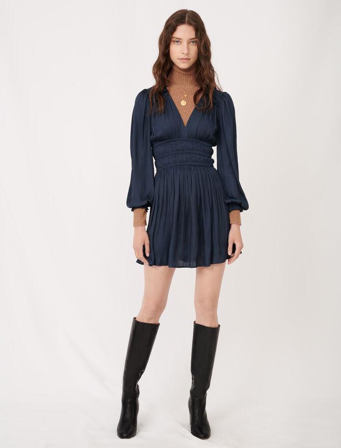 Satin dress with ruffles - Dresses - MAJE