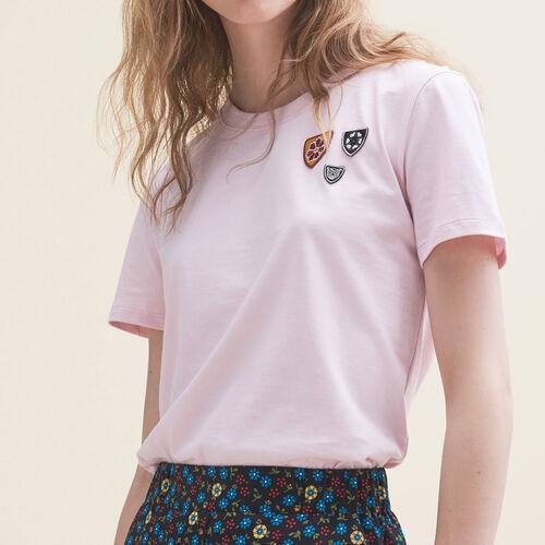 Basic cotton T-shirt : T-shirts color Pink