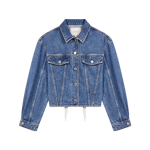 Denim jacket, corset lacing at the back - Coats & Jackets - MAJE